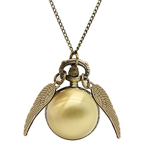 GSC Moda Snitch wings flying ball Pendant Necklace Pocket Watch Fashion Jewelry Unisex Harry potter from GSC Moda
