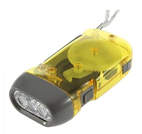 Liroyal Dynamo-Taschenlampe, mit 3 LED-Lampen, mit Pump-Mechanismus, geeignet fü r Camping 4 Pcs