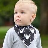 "Stadela Baby Bandana Drool Bibs for Drooling and Teething 4 Pack Gift Set for Boys ""Lumberjack Set"""
