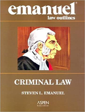 criminal law outline Mike shecket's notes on dressler's cases and materials on criminal law [1] back to criminal law chapter 1 introduction: setting the stage.