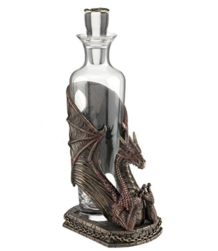 "11.75"" Dragon Spirit Decanter Gothic Home Decor Statue Sculpture"