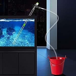 Amazon.com: Limpiador de agua para acuario con filtro para ...