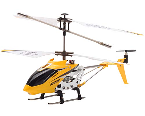 POCO DIVO Replacement for SYMA S107 2.4Ghz Altitude Hold S107H RC Helicopter One-Key Launching/Landing Beginner Flight Mini 3CH Metal Gyro Heli, Yellow