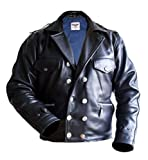 Noble House BARKHORN Flight Jacket, Steerhide Luftwaffe Leather Jacket Men (M) Black