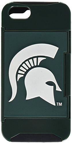 Forever Collectibles NCAA Hideaway Credit Card iPhone 5 Hard Case - Retail Packaging - Michigan State (Michigan State Credit Card)