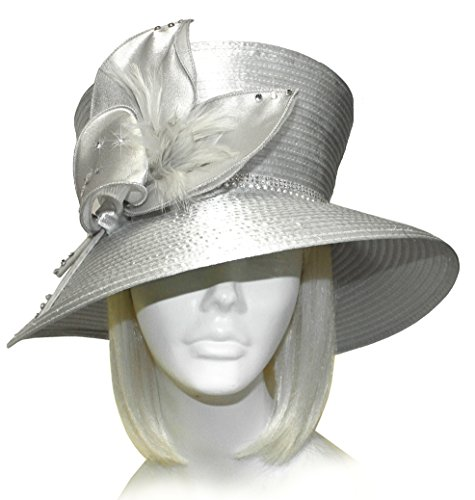 fc804aa9372bb Mr. Song Millinery All-Season Flaretop Wide Brim Hat with Floral Accent - 2  Colors