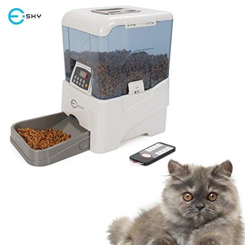 Esky Remote Controlled, Fernbedienung Automatischer Pet Feeder/Futterreservoir/Futterautomat/Futterspender für Hund/Katze/Haustier