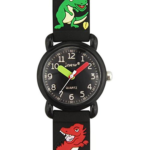 Kids Watches, AIJUN Waterproof 3D Silicone Cute Cartoon Digital Quartz Wristwatches Time Teacher for Kids Girls or Boys