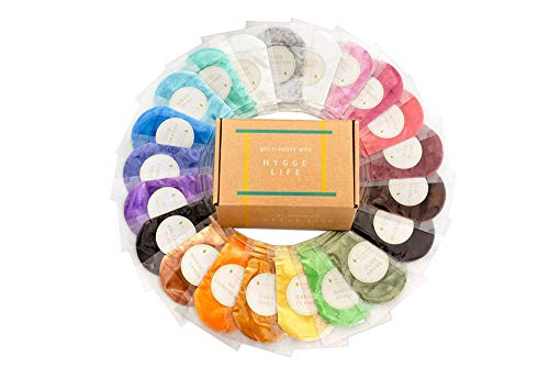 [21 Colorant Packs 10g/0.35oz Each] 210g of Cosmetic Grade Natural Mica Powder Pigment Set for Bath Bomb, Soap, Epoxy Resin, and Slime Making - Non Toxic Pearl Color Dyes for Make-up and Nail Art ()