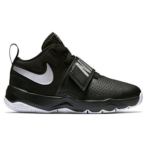 Nike Boys' Team Hustle D 8 (Ps) Basketball Shoes Black (Black / Metallic Silver / White 001) 6GDESGixne