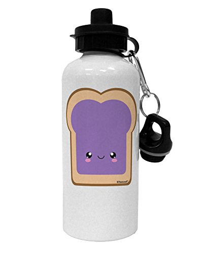 TooLoud Cute Matching Design - PB and J - Jelly Aluminum 600ml Water Bottle - White