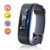 Vigorun Fitness Tracker Color Screen, Activity Tracker with Heart Rate Monitor Watch, IP68 Waterproof, Sleep Monitor, Step Calorie Counter, 14 Sport Modes, Pedometer wristband for Women Men Kids