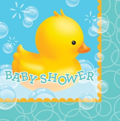 Club Pack of 192 Bubble Bath Rubber Ducky 3-Ply Paper Party Lunch Napkins 6.5