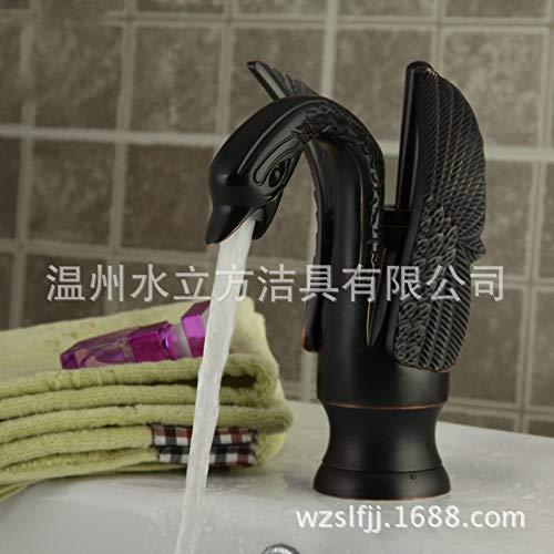 Waschtischmischer Wasserhähne Bad, Europäischen neuen Bad retro schwarzen Schwan Wasserhahn