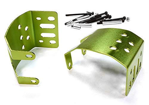 (Integy RC Model Hop-ups C25446GREEN Alloy Skid Plate Assembly (2) for Axial SCX-10 Type Axle)