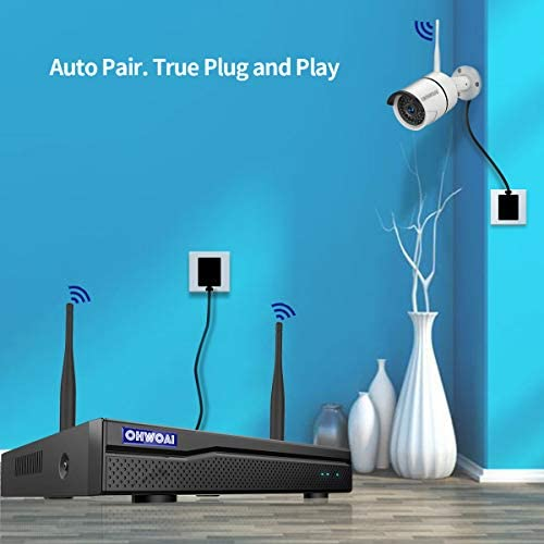 【8CH Expandable.Audio】 Security Camera System Wireless Outdoor, 8 Channel 1080P NVR with 1TB Hard Drive, 4Pcs 1080P CCTV Cameras for Home,OHWOAI Surveillance Video Security System,Outdoor IP Cameras 41KVTgqPhfL