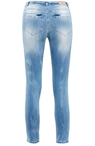 Taifun, Vaquero Skinny para Mujer Blau (Bleach Denim 82800)