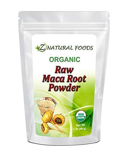 USDA Certified Organic Maca Root Powder - Non-GMO, Red, Yellow & Black Blend, Raw, Pure, Pesticide-free (1 lb)