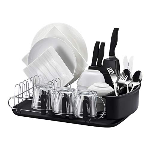 Professional Dish Drying Rack by CaliKitched - 304 Stainless Steel No Corrosion - Built Tough (Dimensions 17