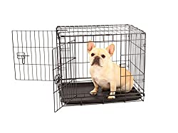 Carlson Secure & Compact Double Door Metal Dog Crate, Small With Divider Panel