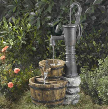 Old Fashioned Pump Water Fountain (Antique Water Basin)