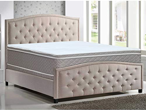 Mattress Solution, 10-Inch Medium Plush Eurotop Innerspring Mattress and 8-inch Box Spring/Foundation Set, Full Size