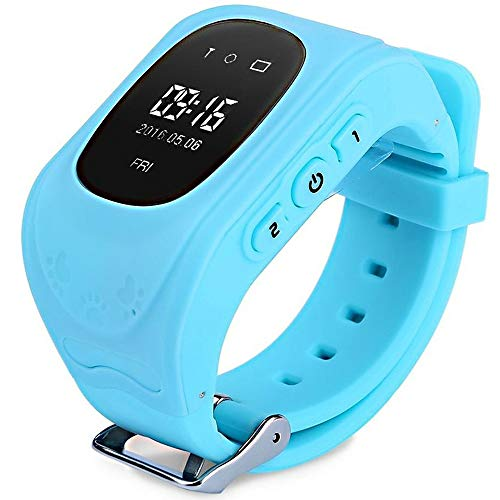 Kids Smart Watch Phone, GPS Tracker Smart Wrist Watch with SOS Anti-Lost Alarm Sim Card Slot Touch Screen Smartwatch for 3-12 Year Old Children Girls Boys Compatible for iOS Android (Blue1)