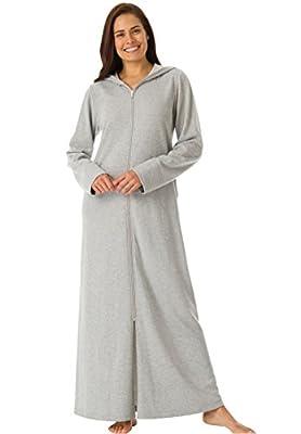 Dreams & Co. Women's Plus Size Petite Ultra-Soft Fleece Hoodie Long Robe .