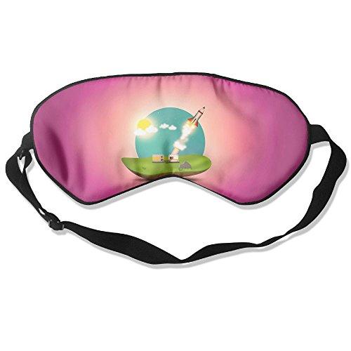 Goods Shops Mulberry Silk Sleeping Masks Rocket Launching Eyepatch Eye Masks Adjustable Sleeping Eye Shade -