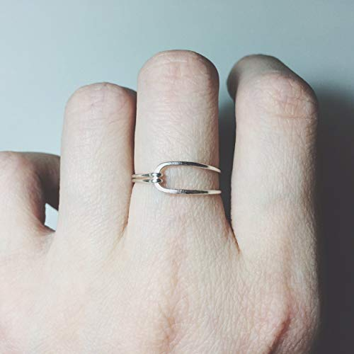 Knot Ring/Tie The Knot Ring/forget me not ring/forget me knot/love knot ring/love ring/Minimalist/bridesmaid gift/wedding/bridal/stacking rings/925 Sterling Silver/14K Gold Filled/14K Rose Gold -