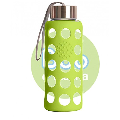 Irisana BBO Botella Borosilicato con Funda de Silicona, Verde, 300 ml: Amazon.es: Deportes y aire libre