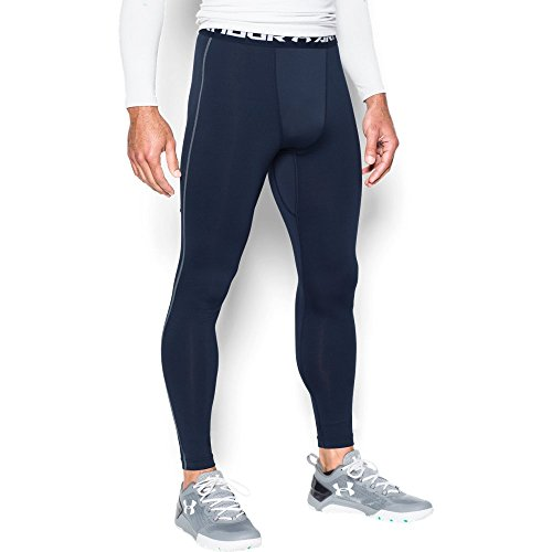 Under Armour Men's ColdGear Armour Compression Leggings, Midnight Navy/Steel, XXX-Large
