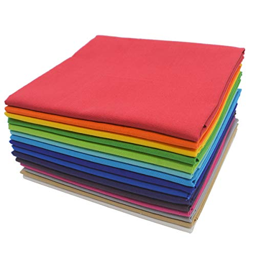 iNee Rainbow Fat Quarters Fabric Bundles, Quilting Sewing Precut Fabric, 18 x 22 inches