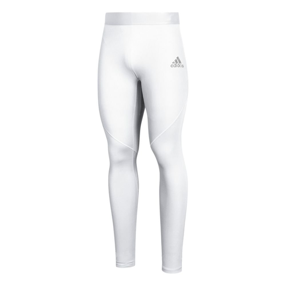 adidas AlphaSkin Long Tight Mens Training XS White