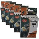 5 schwarze Druckerpatronen Canon PGI-525BK für Canon ip4850 ip4950 ip4900 ip4800 mg5100 mg5150 mg5200 mg5250 mg5300 mg5350 mg6150 mg6250 mg8150 mg8250 mx715 mx885 mx895 mit CHIP (Ersatz PGI525BK) Sie bekommen 5 x schwarz (je Patrone 20ml) kompatibel mit Chip