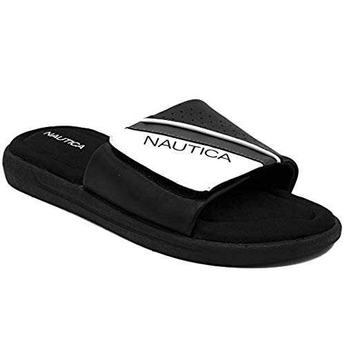c83020fcd9a1e Nautica Men's Athletic Slide Memory Foam Footbed Comfort Sandal