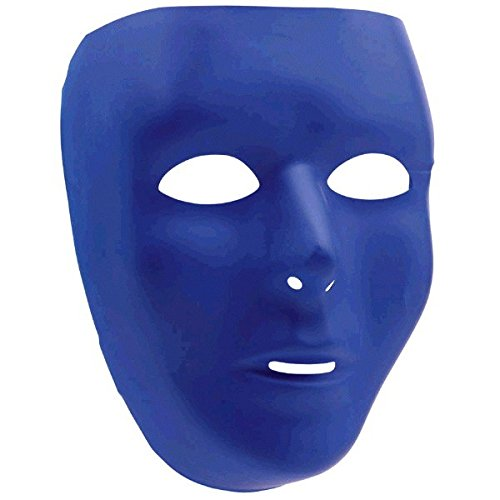Amscan Full Face Mask, Party Accessory, Blue