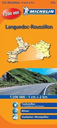 Michelin Languedoc-Roussillon: Straßen- und Tourismuskarte 1:200.000 (MICHELIN Regionalkarten, Band 526)