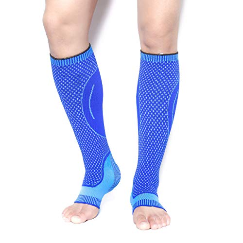 HipStone Plantar Fasciitis Compression Socks(1 Pair), 20-30 mmHg Foot Compression Sleeves for Ankle/Heel Support, Increase Blood Circulation, Relieve Arch Pain, Reduce Foot Swelling