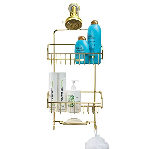 Polished Brass Shower Caddy - Better Houseware Extra Large Shower Caddy - Gold