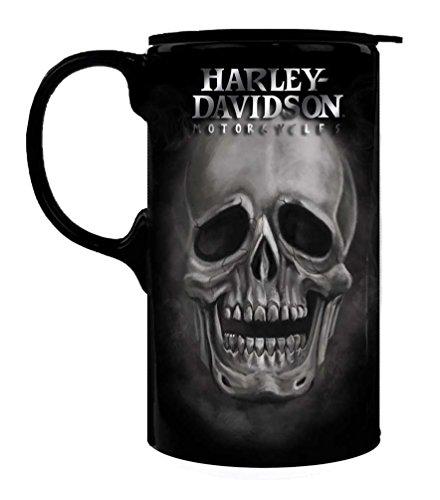 Harley-Davidson Tall Boy Travel Latte Mug, H-D Skull, Gift Box Set 3TBT4906