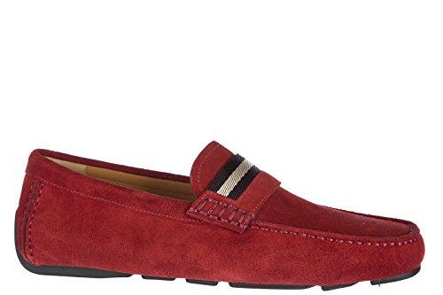 Bally Mocassini Di Camoscio Uomini Pantofola Wabler Rosso