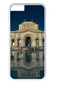 Armenia yerevan building reflection in water Polycarbonate Hard Case Cover for iphone 6 plus 5.5 inch White in GUO Shop