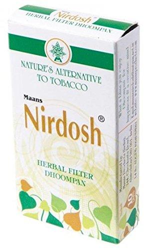 Nirdosh Herbal Ayurvedic Tobacco And Nicotine Free Cigarettes - 1 Carton Of 30 Packs