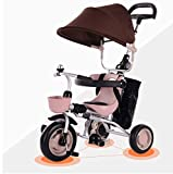 Baianju Children's Tricycle Bicycle Baby Folding Portable Trolley Baby Stroller