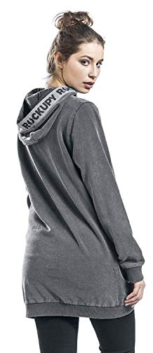 Rockupy Antracita Capucha Vestido Corto Rockupy Vestido 4XU1wxqdWU