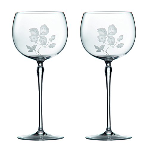 Wedgwood Wild Strawberry Glass Goblet Pair, Clear