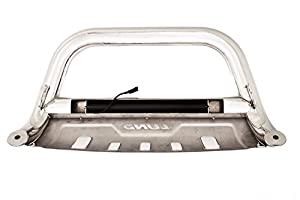 Lund 47021206 Bull Bar with Integrated LED Light Bar, Polished Stainless Steel for 2004-2019 Ford F-150