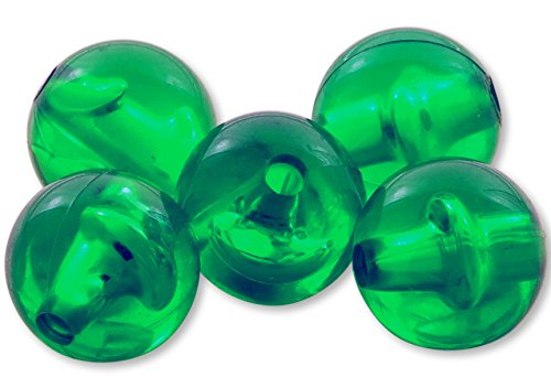 River Guide Supply Round Acrylic Plastic Beads 200 Pack - Made in USA (Emerald Green, 6mm)