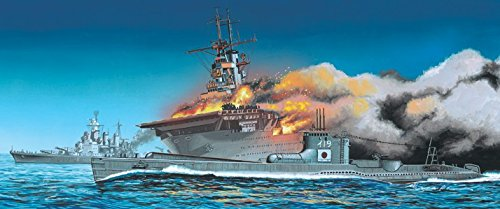 (1/700 USS Wasp Aircraft Carrier & IJN I19 Submarine )